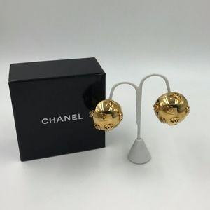 Authentic Vintage ChanelGlobe Clip Earrings
